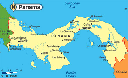 Clive and hazel walker in panama map of panama gumiabroncs Image collections